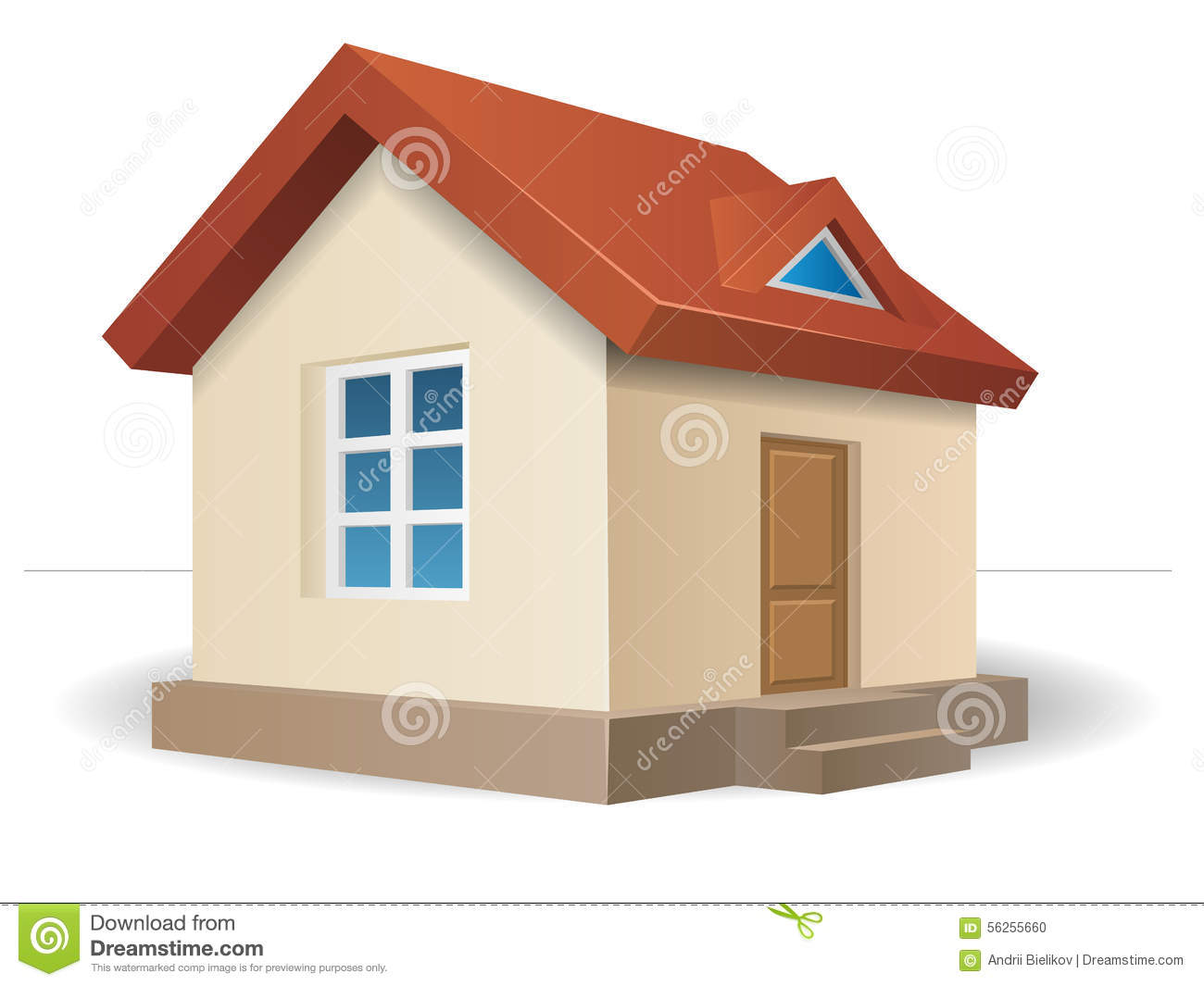 house with red roof stock vector illustration of estate 56255660