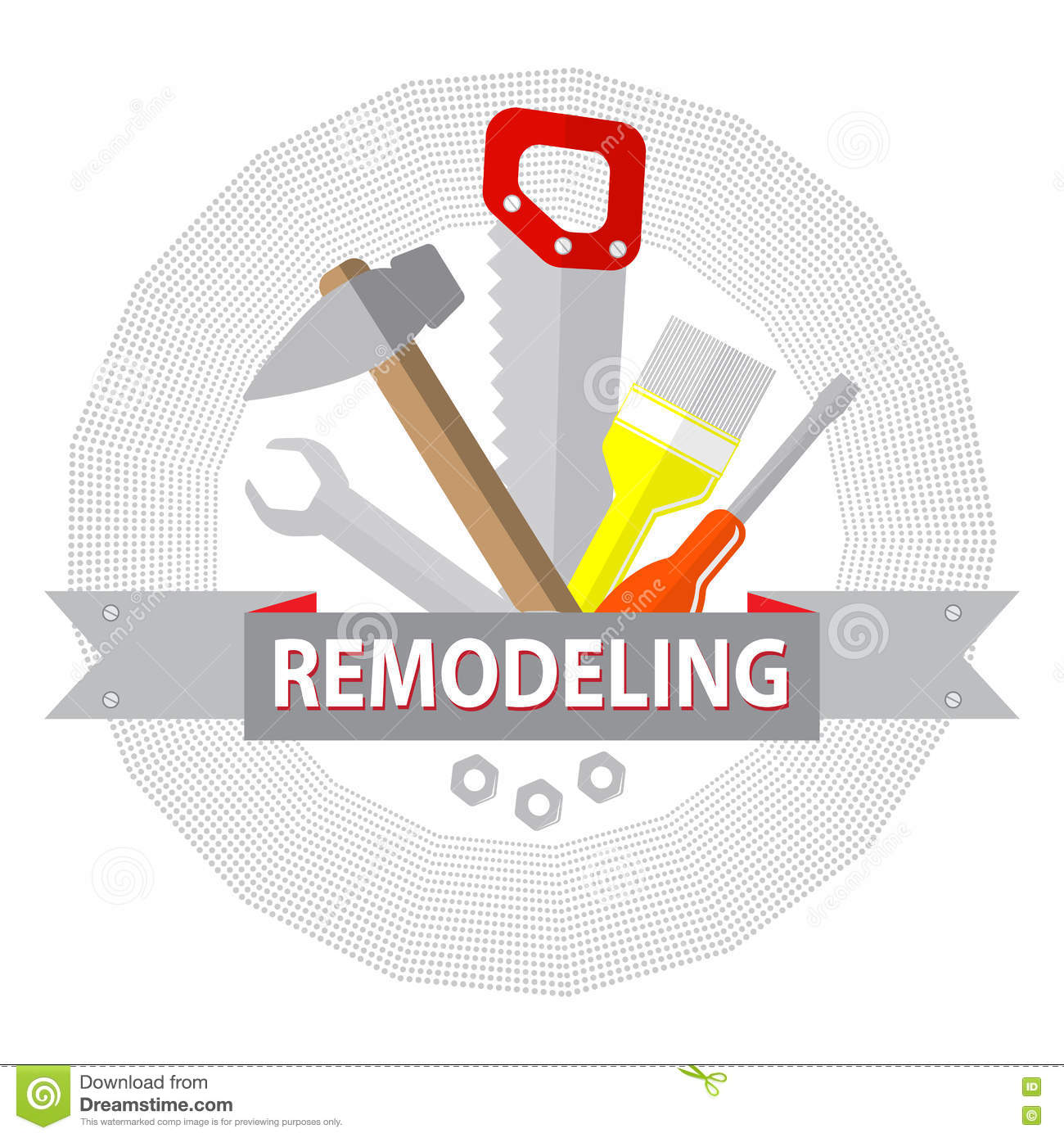 House remodel tools logo home repair service stock for House remodeling tools