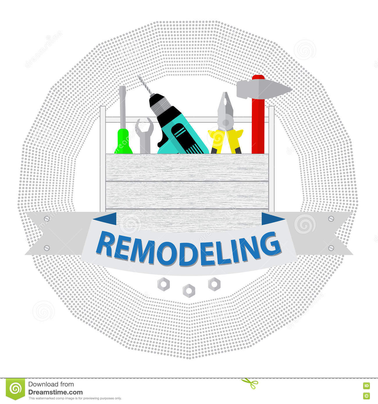 House remodel tools logo home repair service house for Remodeling companies