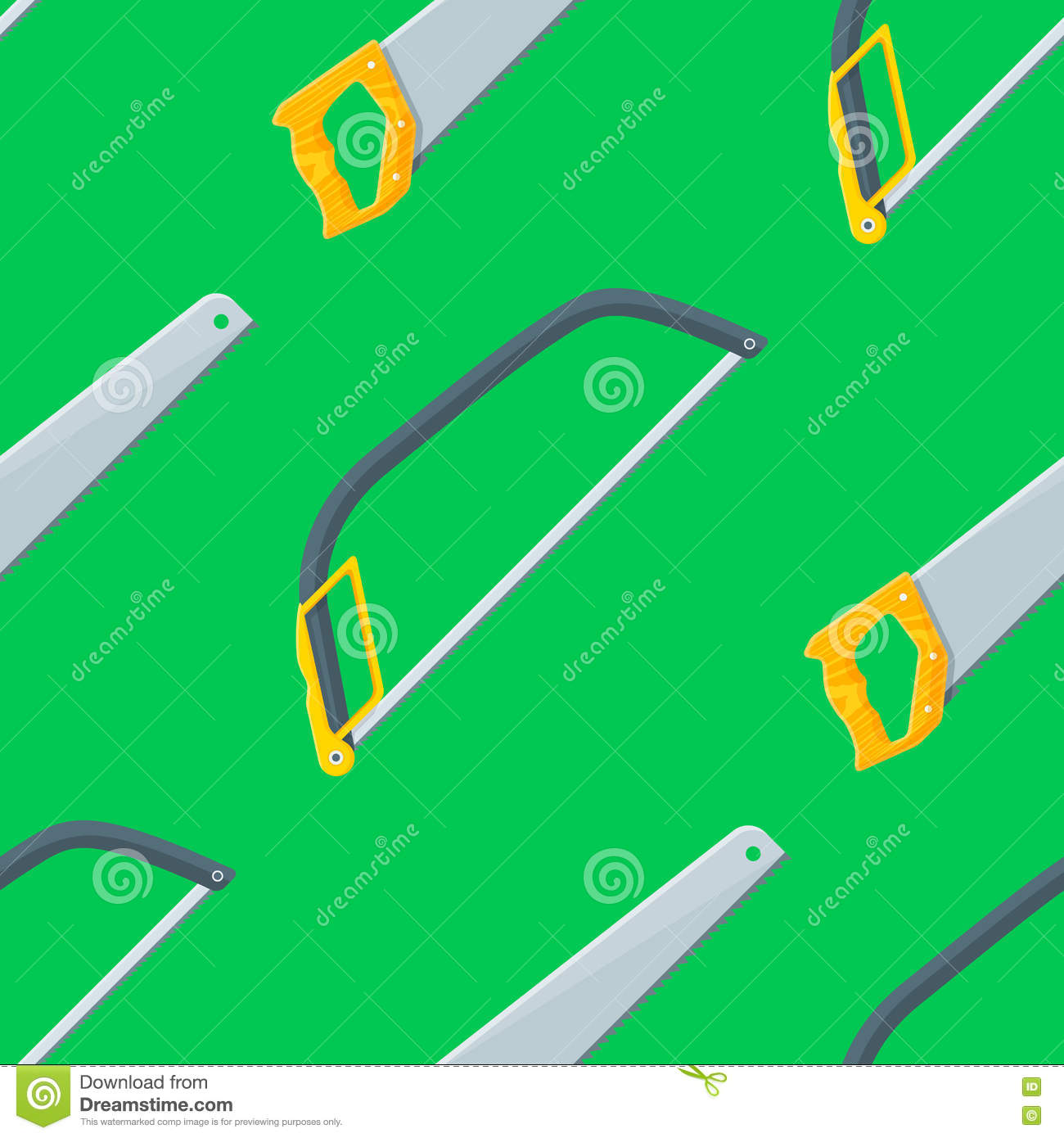 Construction Equipment And Tools, Seamless Background ...