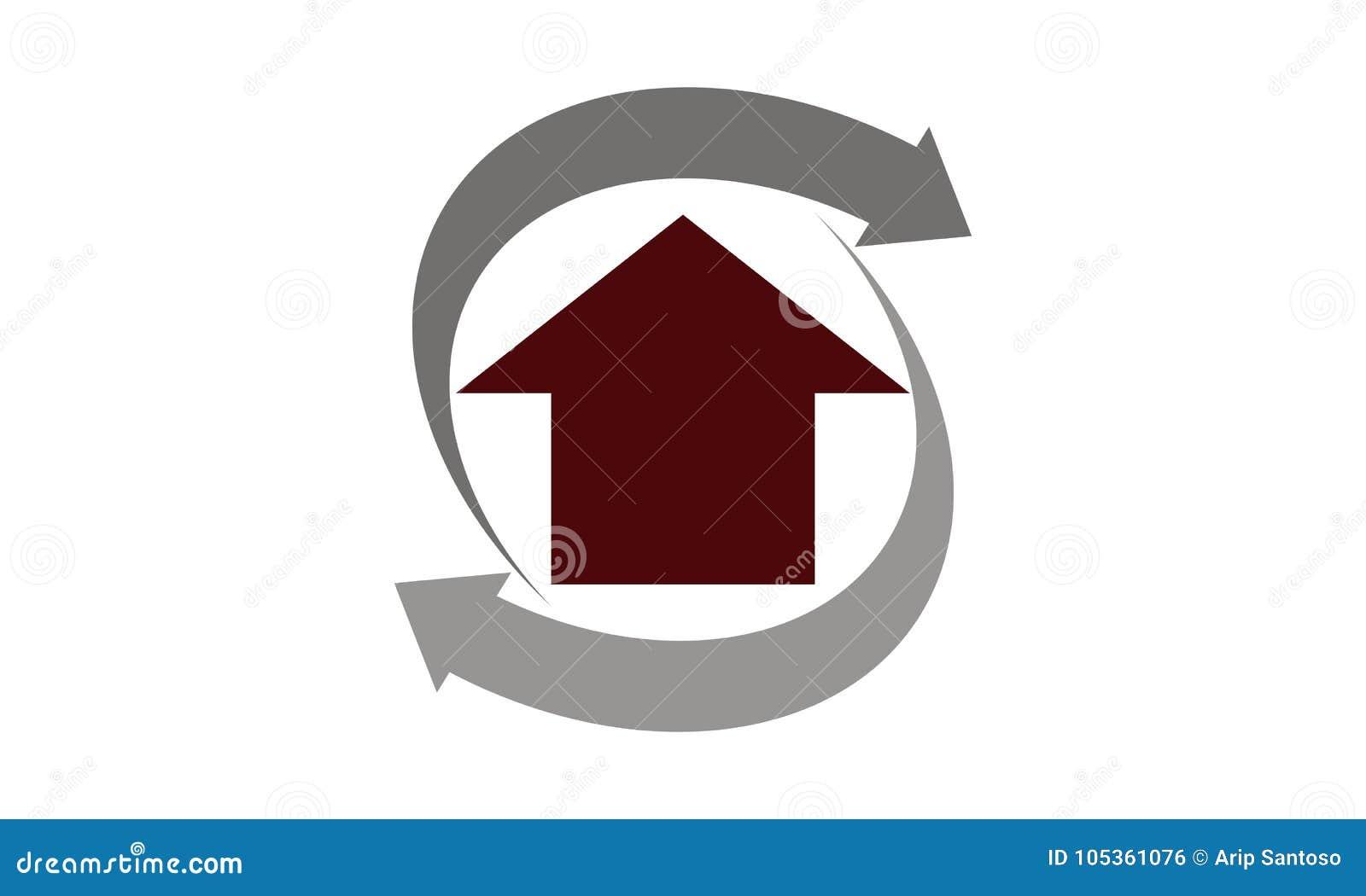 House Remodeling Logo Design Template Stock Vector