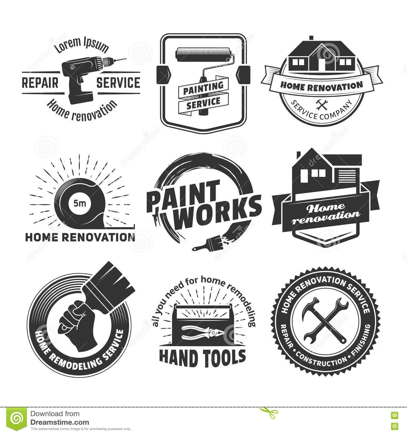 House remodeling logos stock vector. Illustration of hammer ... on contracting logos, home repair services, home renovation, home repair logos, home siding logos, real estate logos, best home improvement logos, property management logos, home repair houses clip art, hvac logos, house painting logos, woodworking logos, home contractor logos, home handyman services, home building logos, home restoration logos, home technology logos, home builders logos, home logo construction, handyman logos,