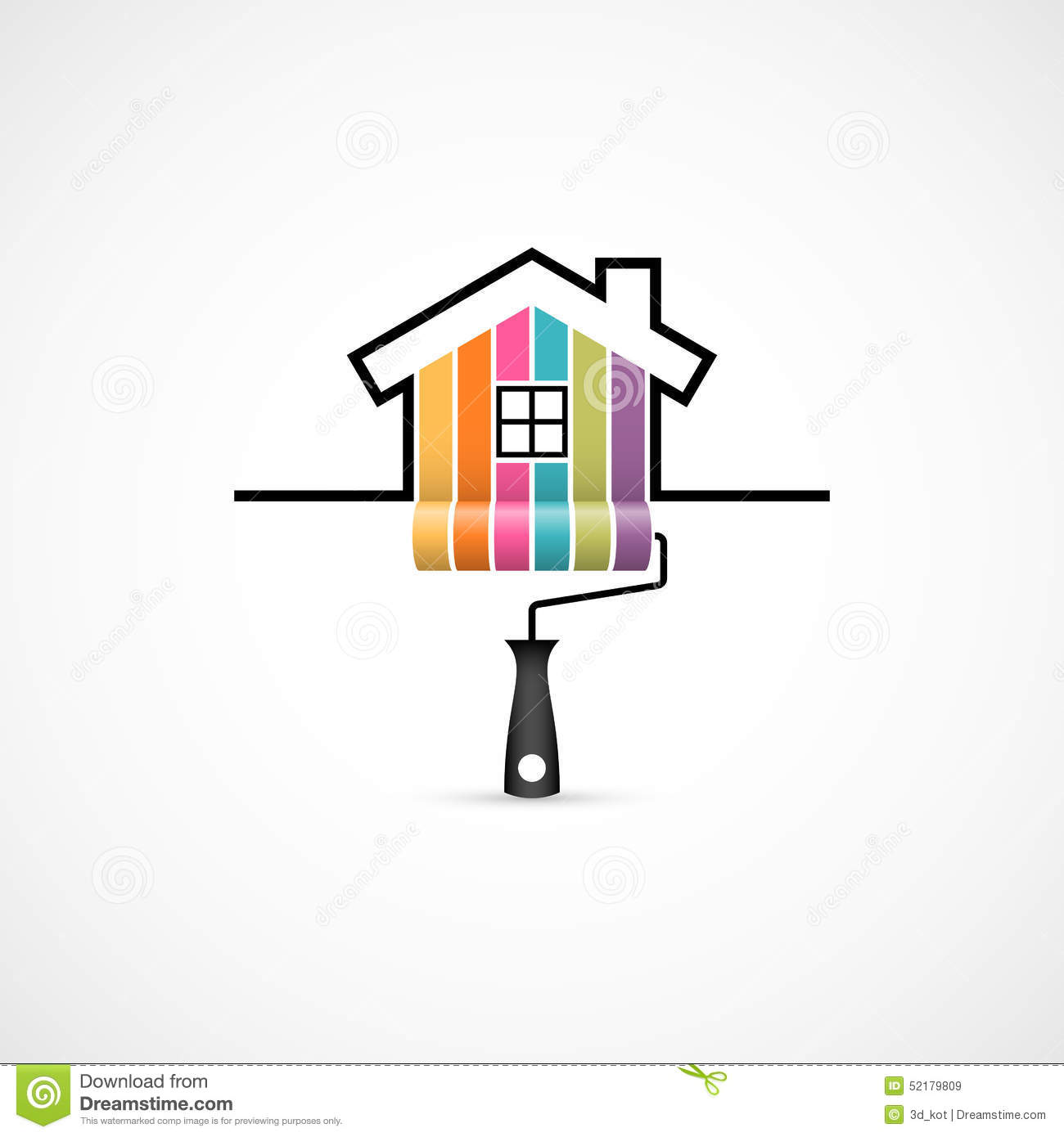 House Renovation Icon Stock Vector Image 52179809