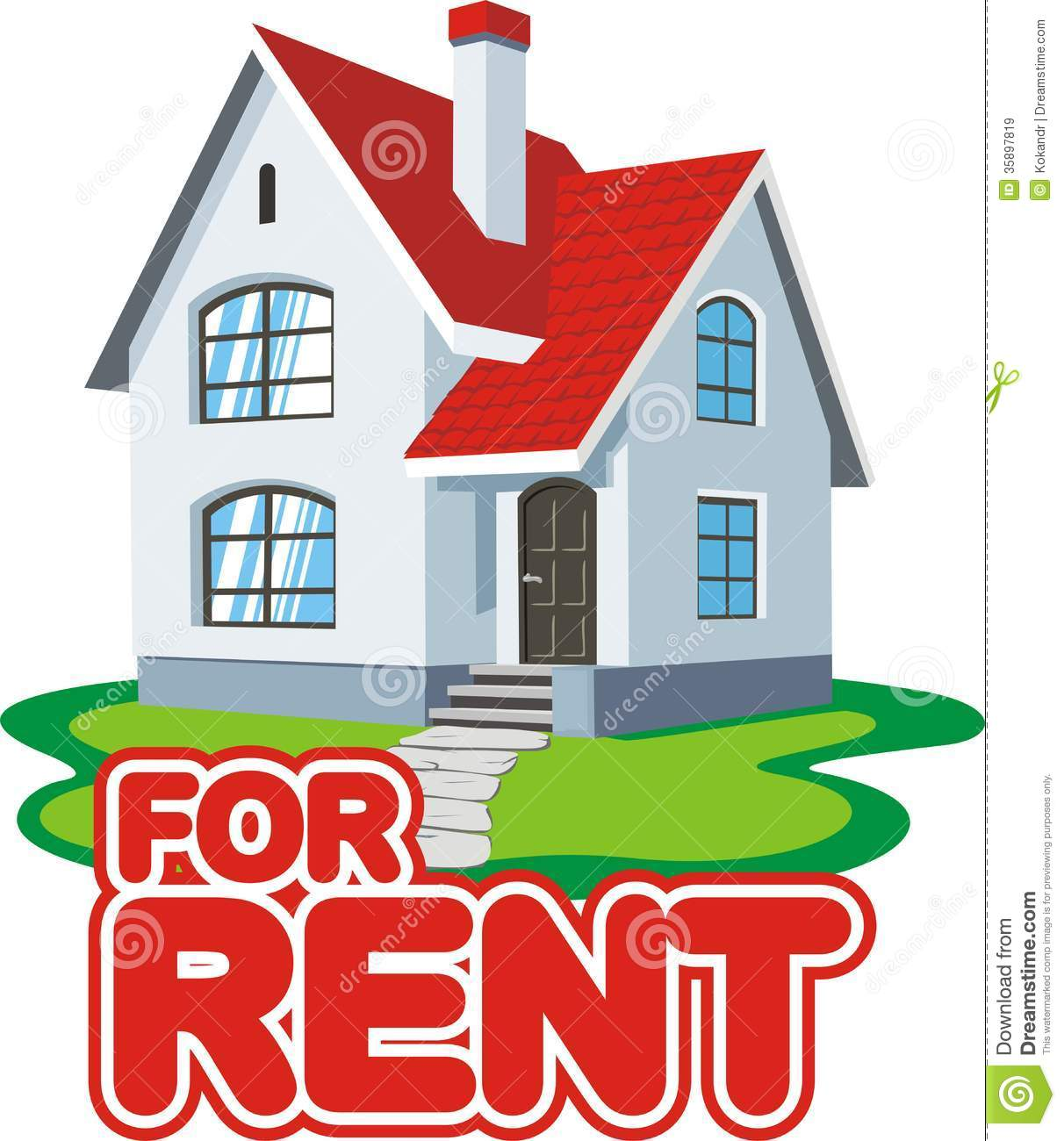 House Rent Com: House For Rent Stock Vector. Illustration Of Realtor