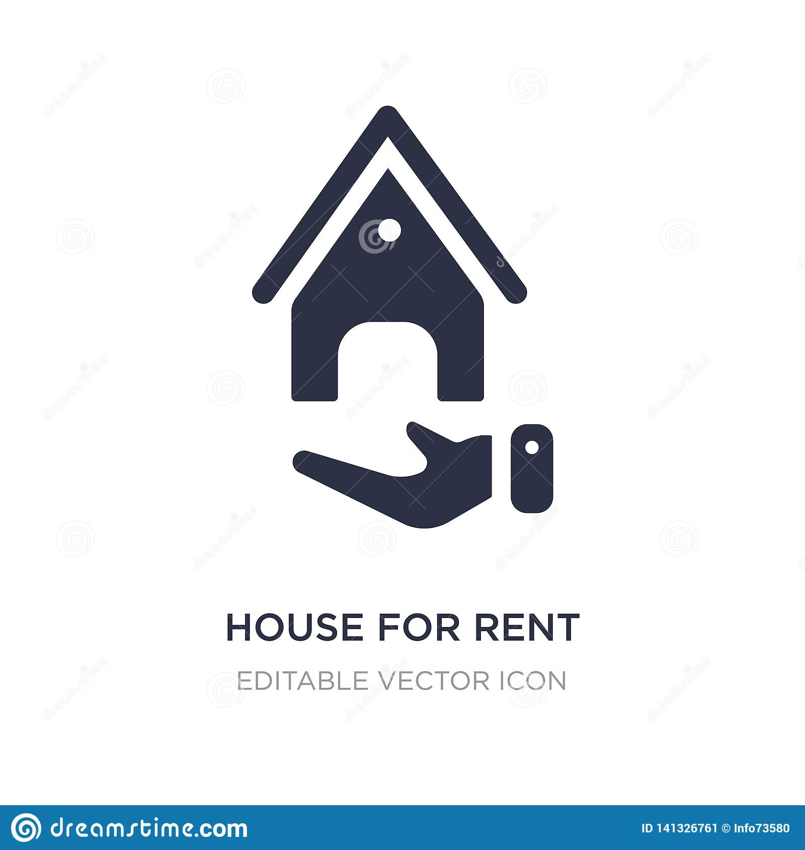 house for rent icon on white background. Simple element illustration from Nature concept