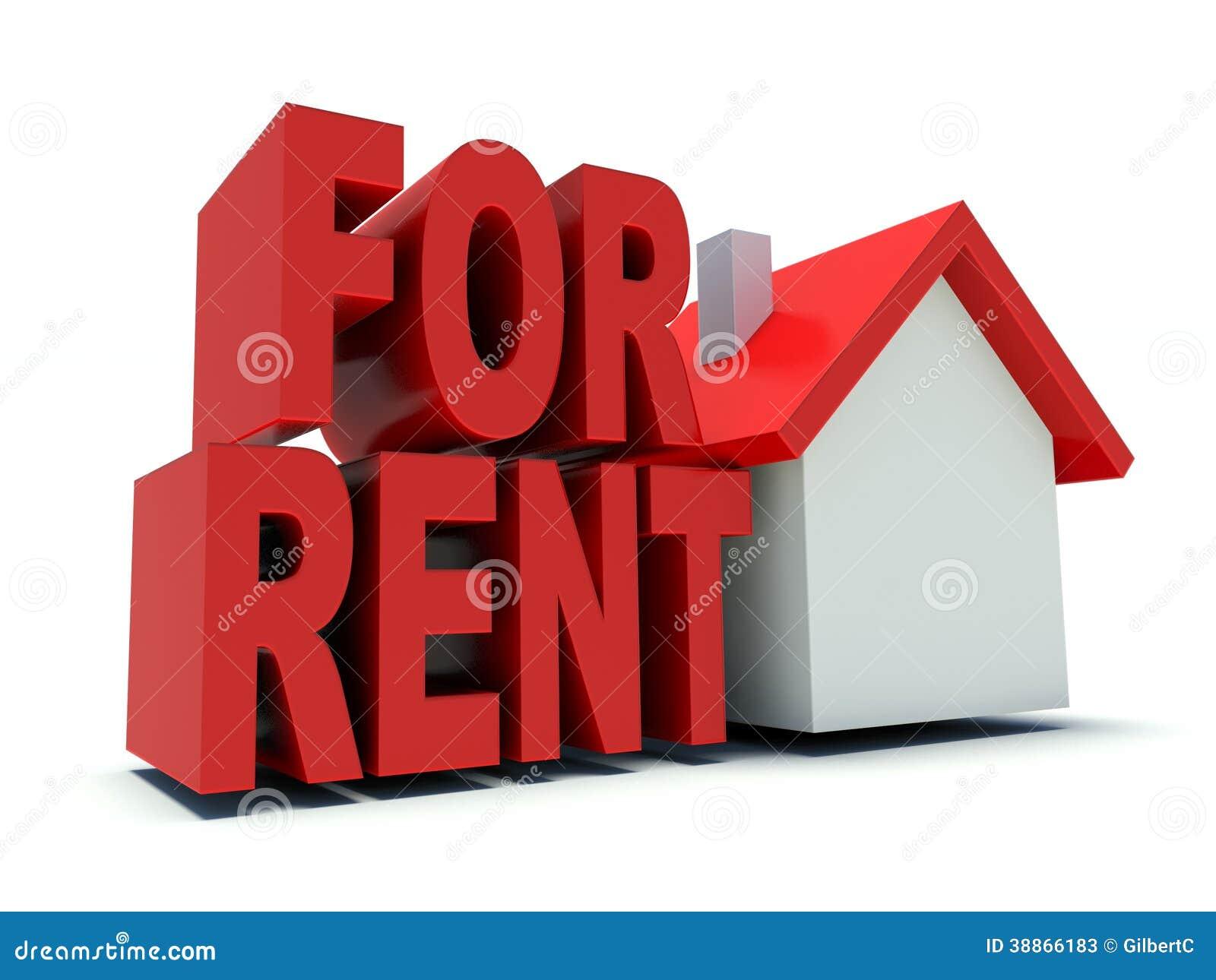 House For Rent Stock Illustration - Image: 38866183