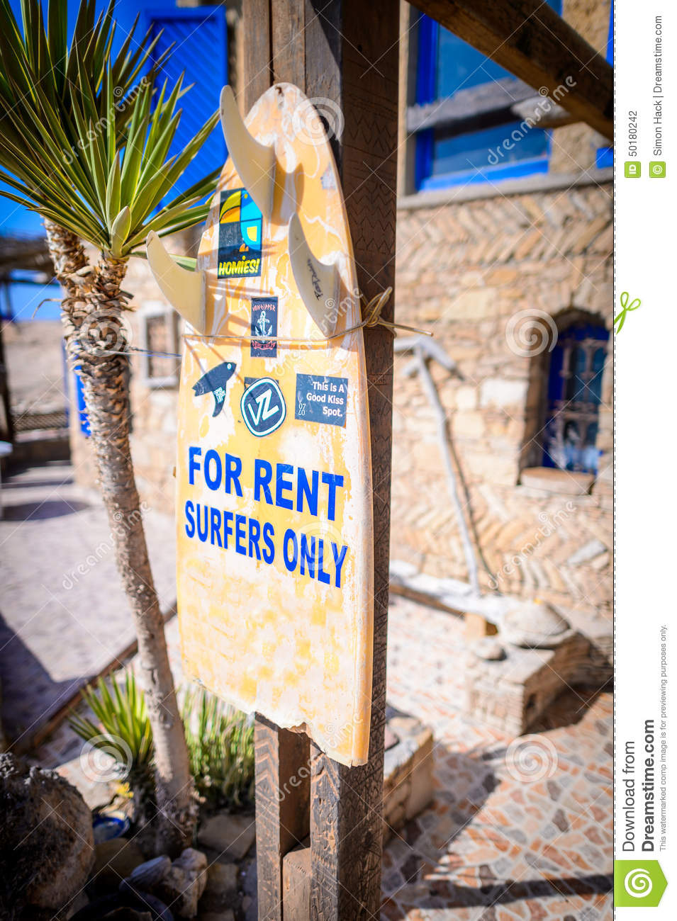 House For Rent Sign Anchor Point Taghazout Surf Village Agadir Morocco Editorial Photography Image Of Fishermen Hash 50180242