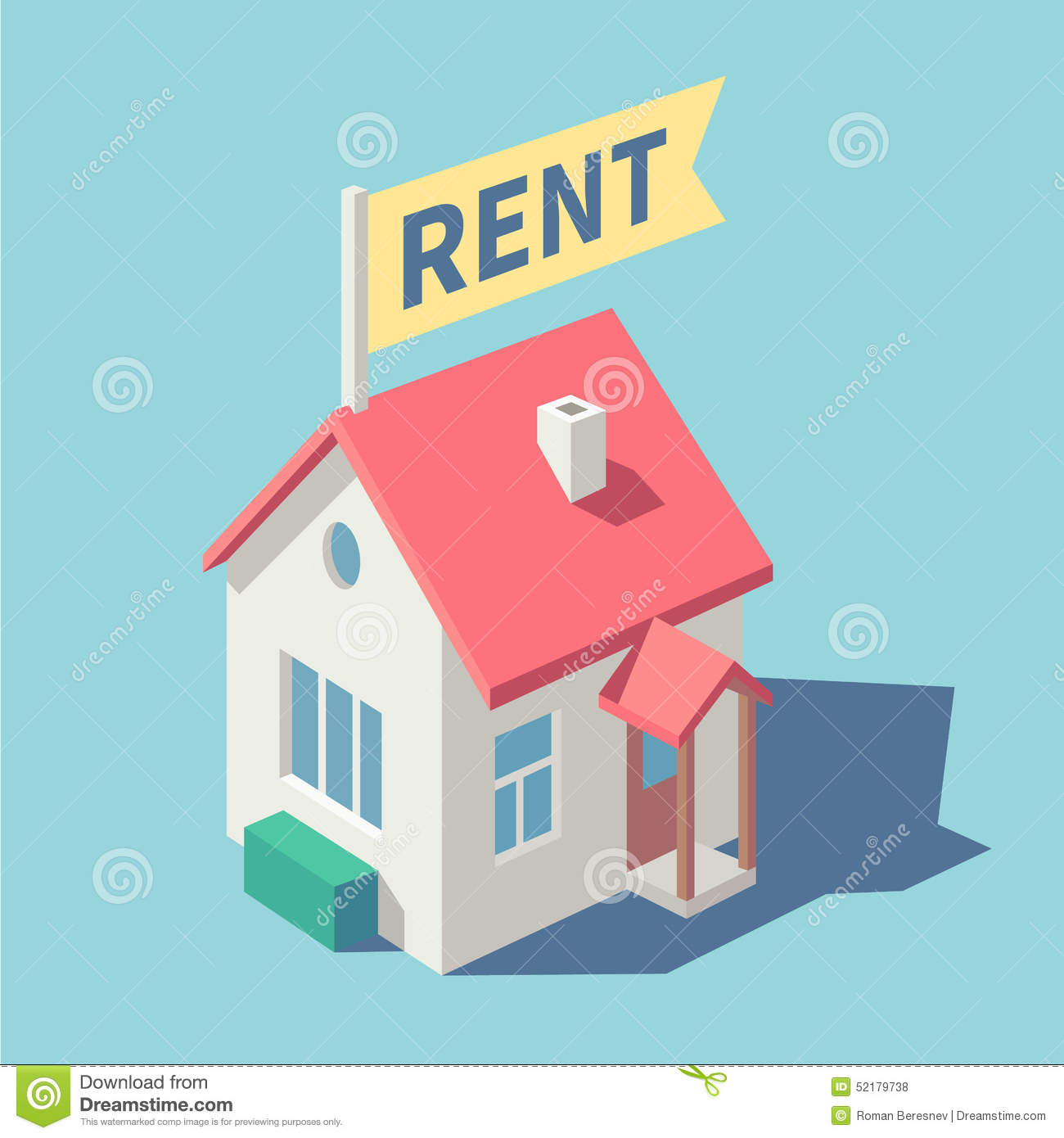 House Rent Com: House For Rent Stock Vector
