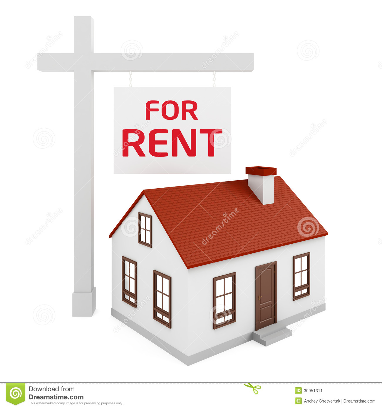 House Rent Com: House For Rent Stock Image