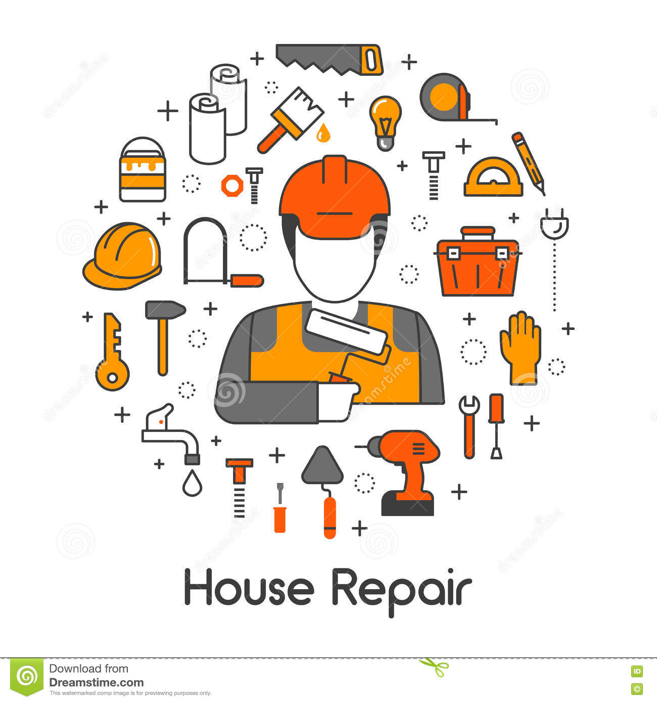 How To boost Your private home's Value Easily house-repair-renovation-line-art-thin-icons-set-repairman-tools-vector-77815972