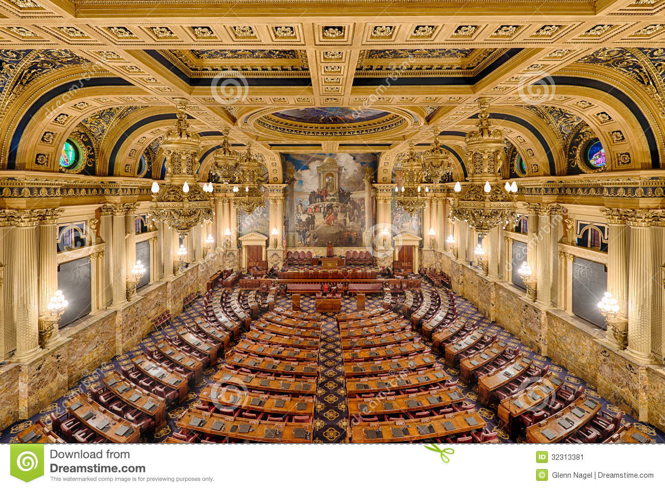 House Of Representatives Chamber Stock Image Image Of