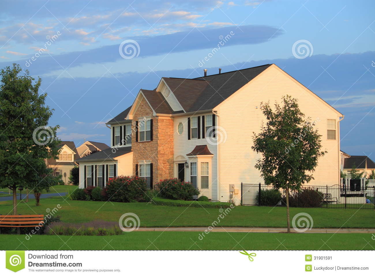 Middle class home stock image image 31901591 for American family homes