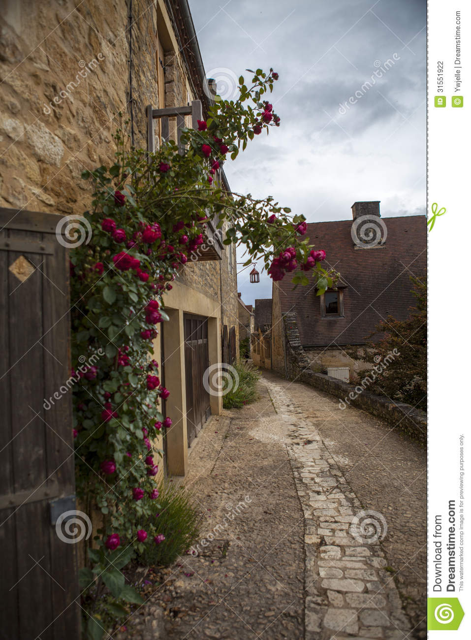 Home Time Road Roblox Id: House And Road With Flowers In Beynac France Stock