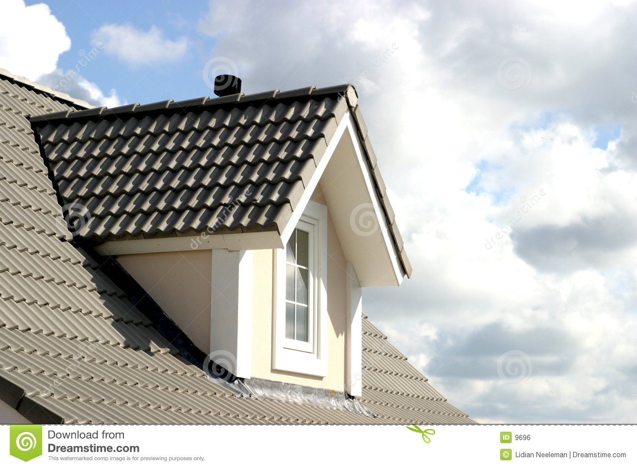 House Roof Stock Photo Image Of Clouds Garret Attic