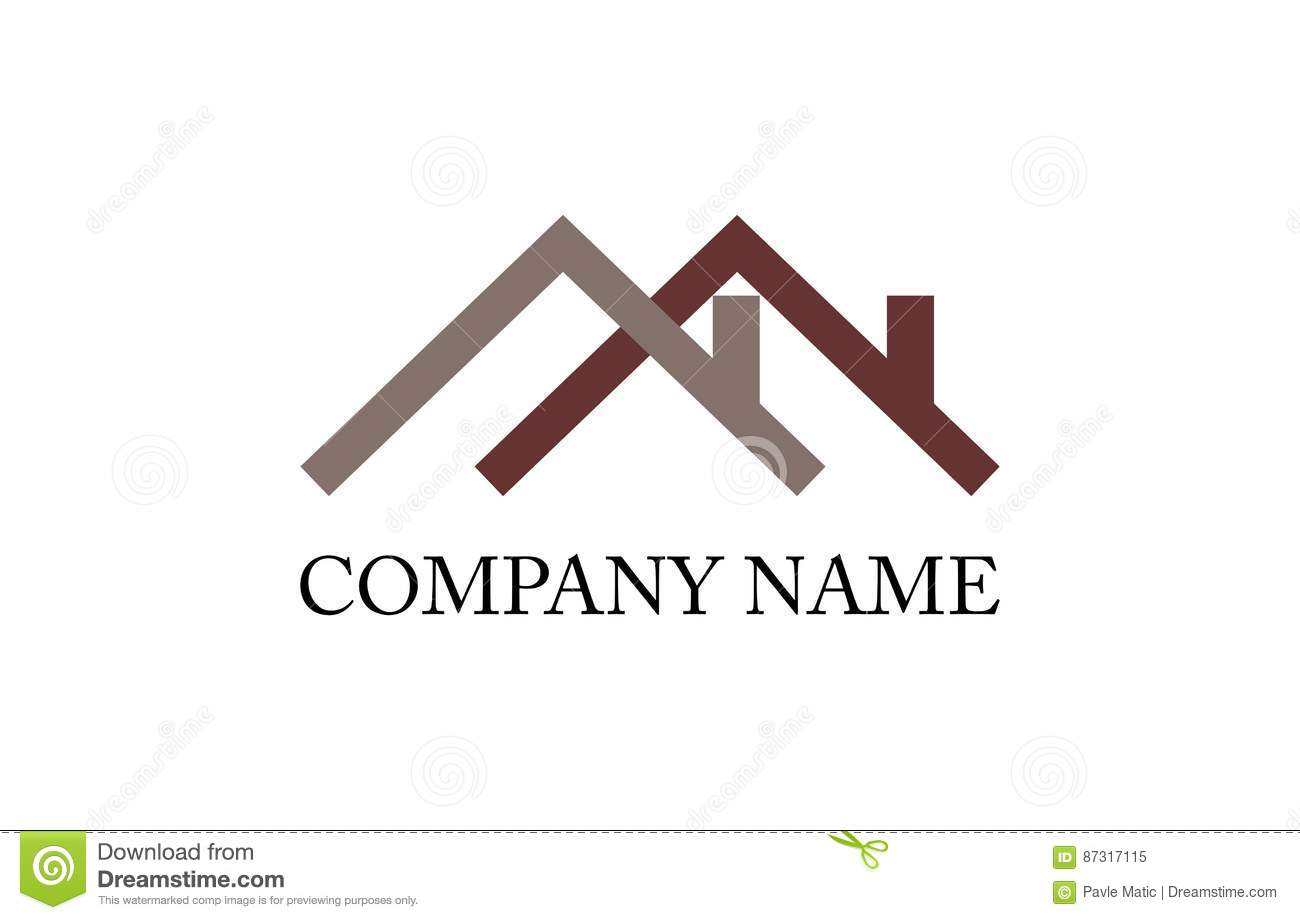 house roof logo stock vector illustration of fonts