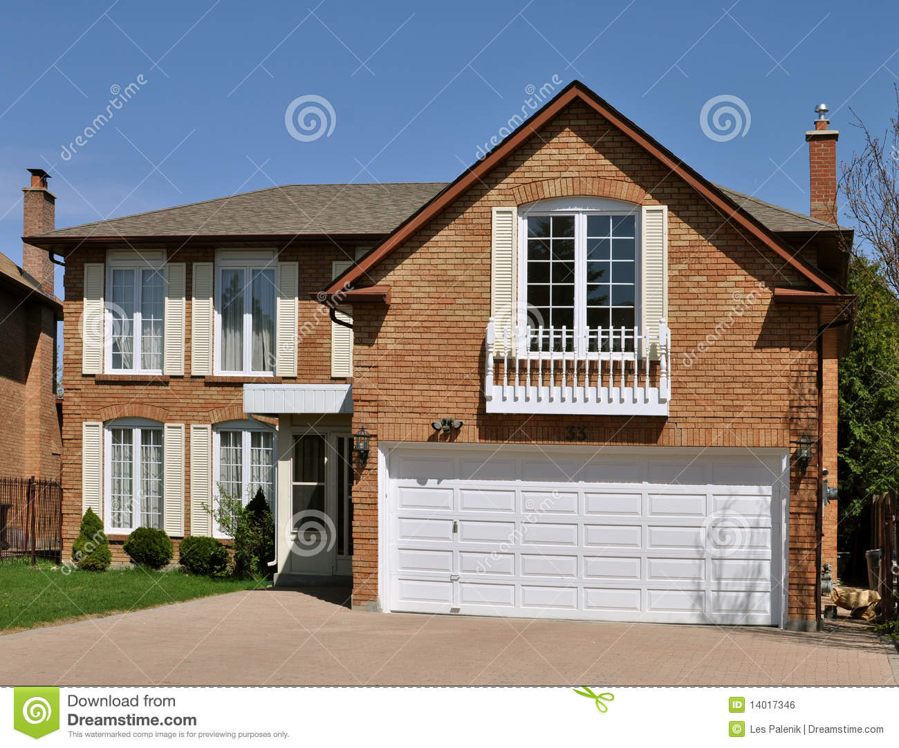 House with a room over the garage stock photo image for House in garage