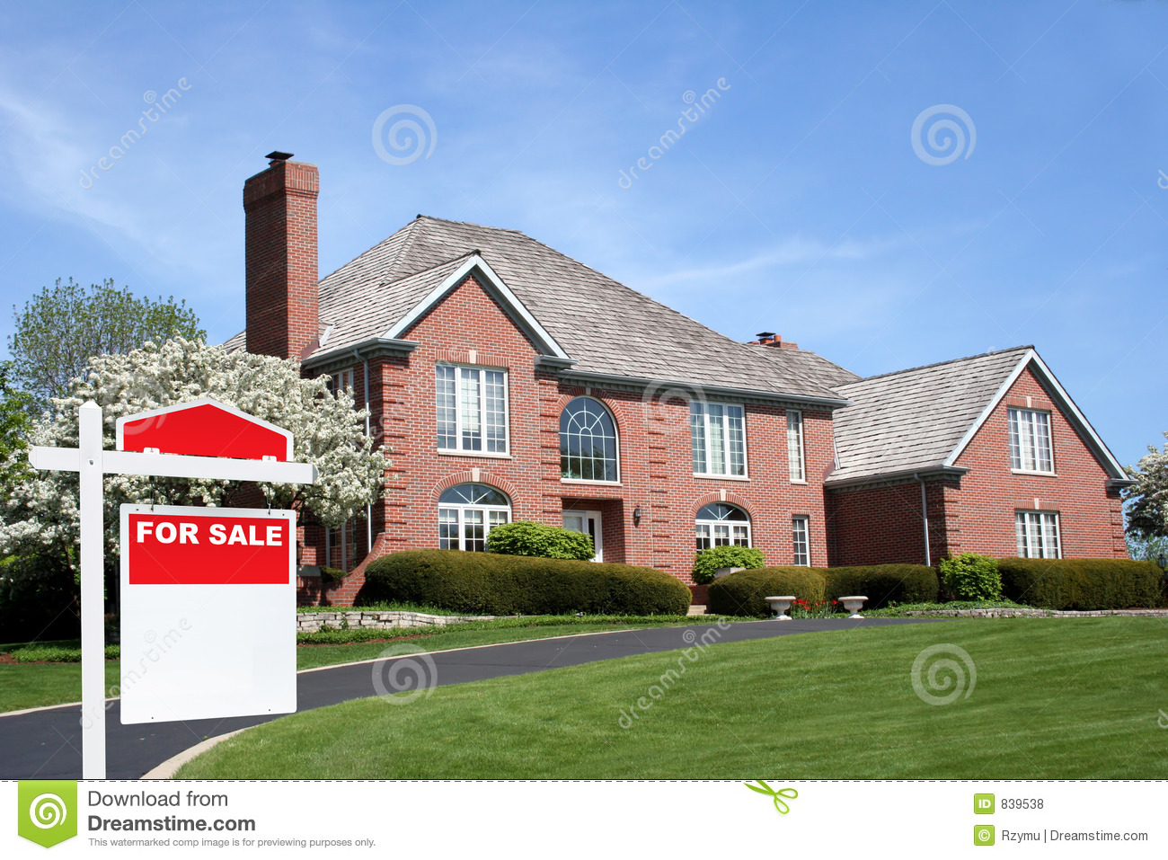 Expensive Car For Sale Or Gift Royalty Free Stock Image: House For Sale Royalty Free Stock Photos