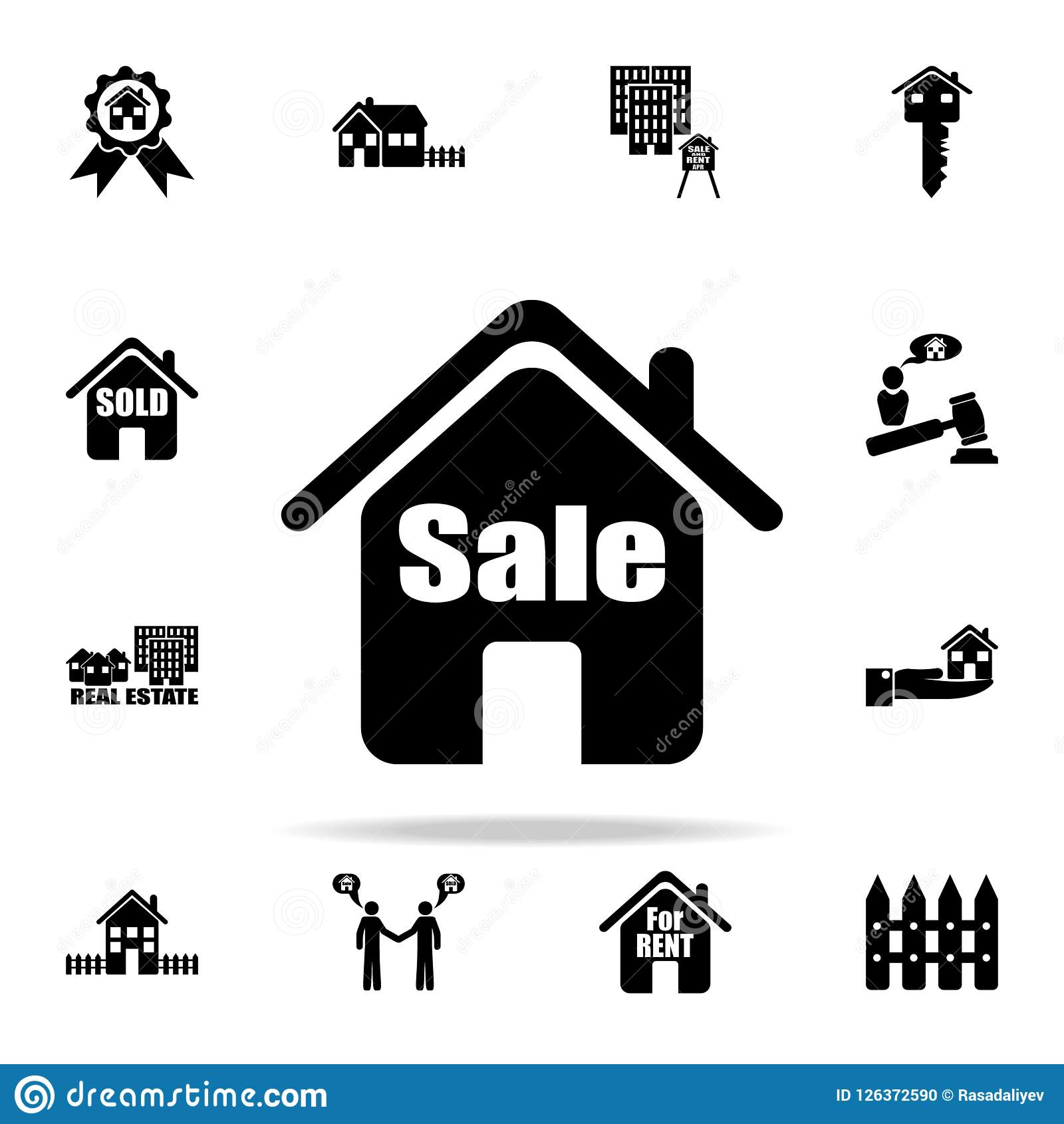 House For Sale Icon Real Estate Icons Universal Set For Web And