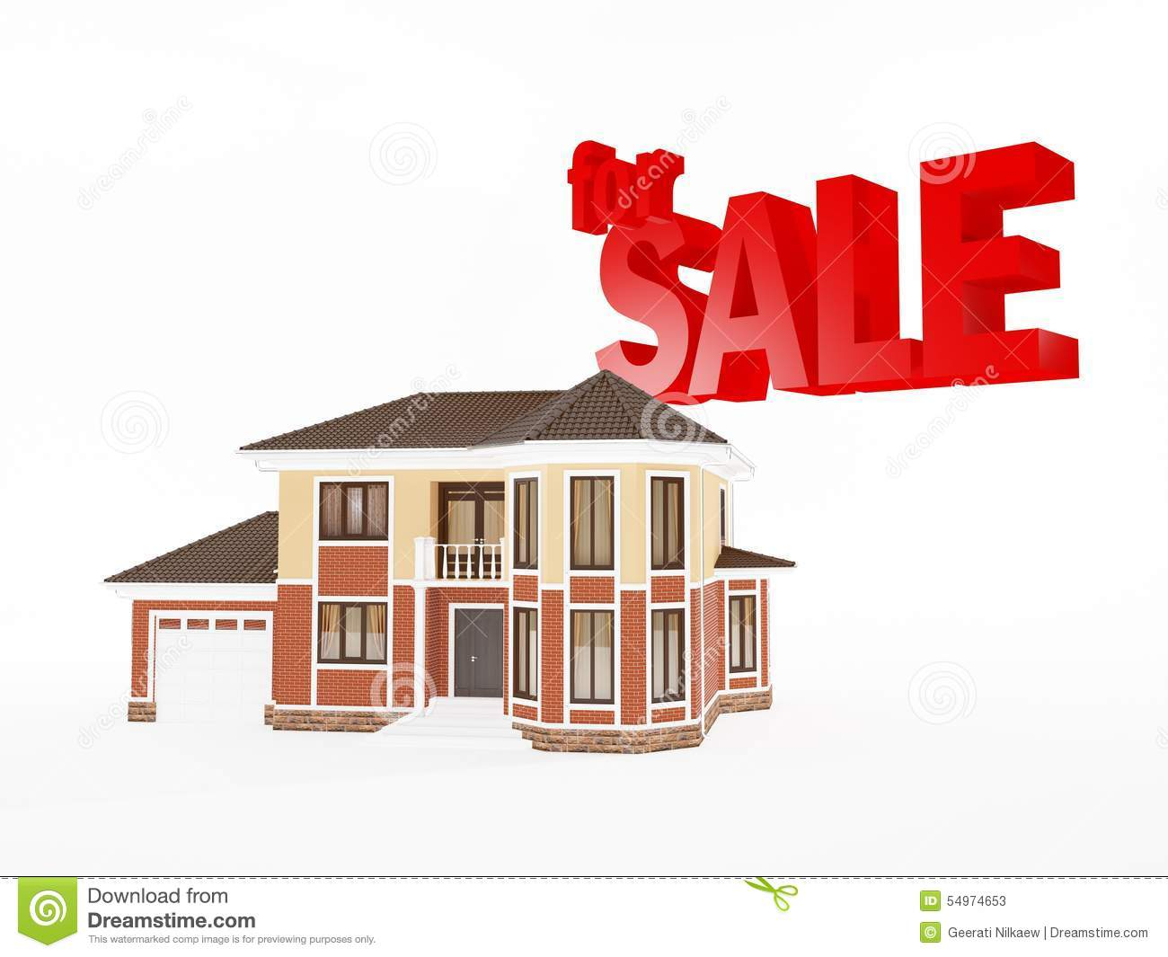 House For Sale, Real Estate Business Stock Illustration