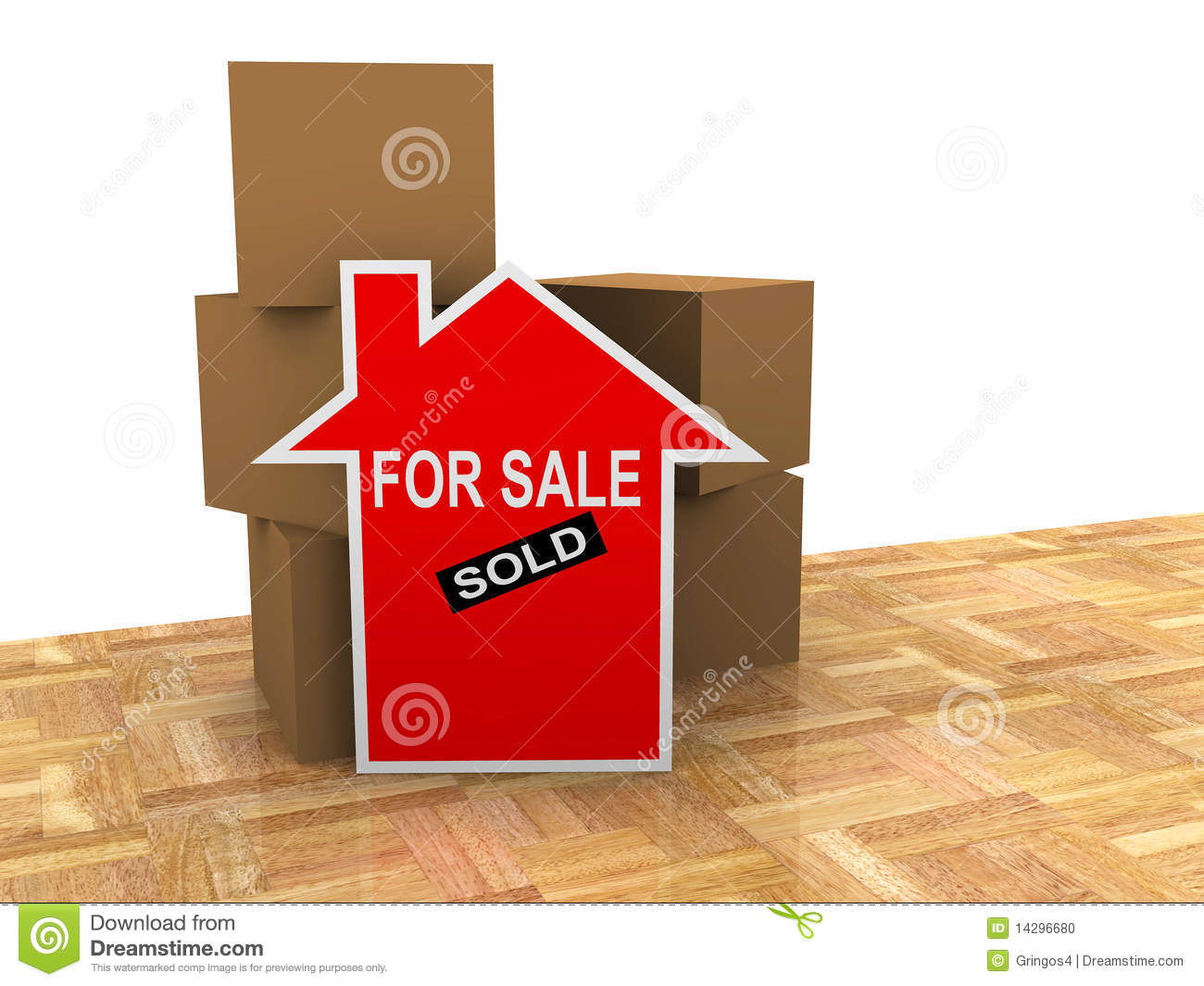 For Sale Sold Sign: House For Sale Sold Sign Stock Photo