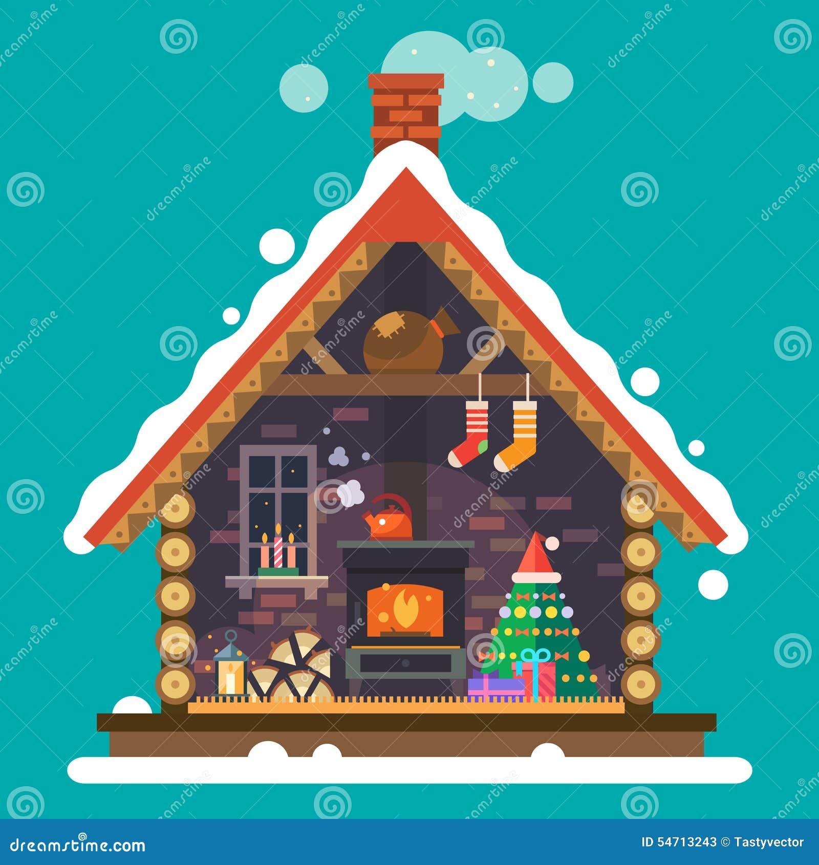 House Of Santa Claus Stock Vector - Image: 54713243