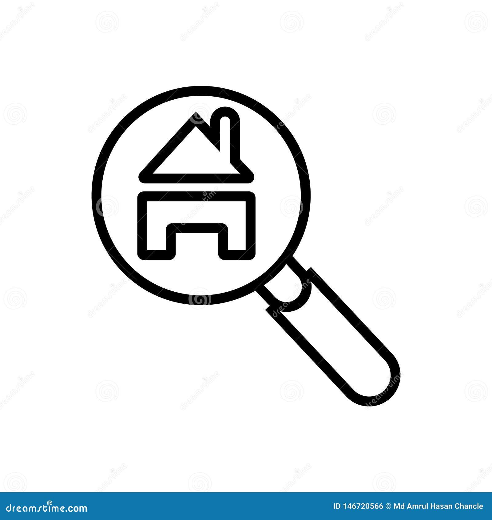 House search vector icon- vector