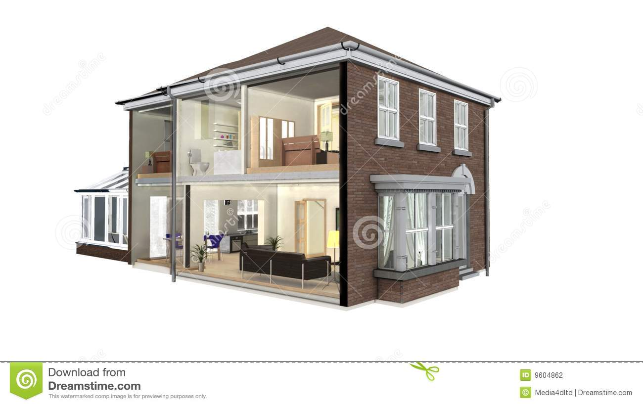 House Section Stock Photography Image 9604862