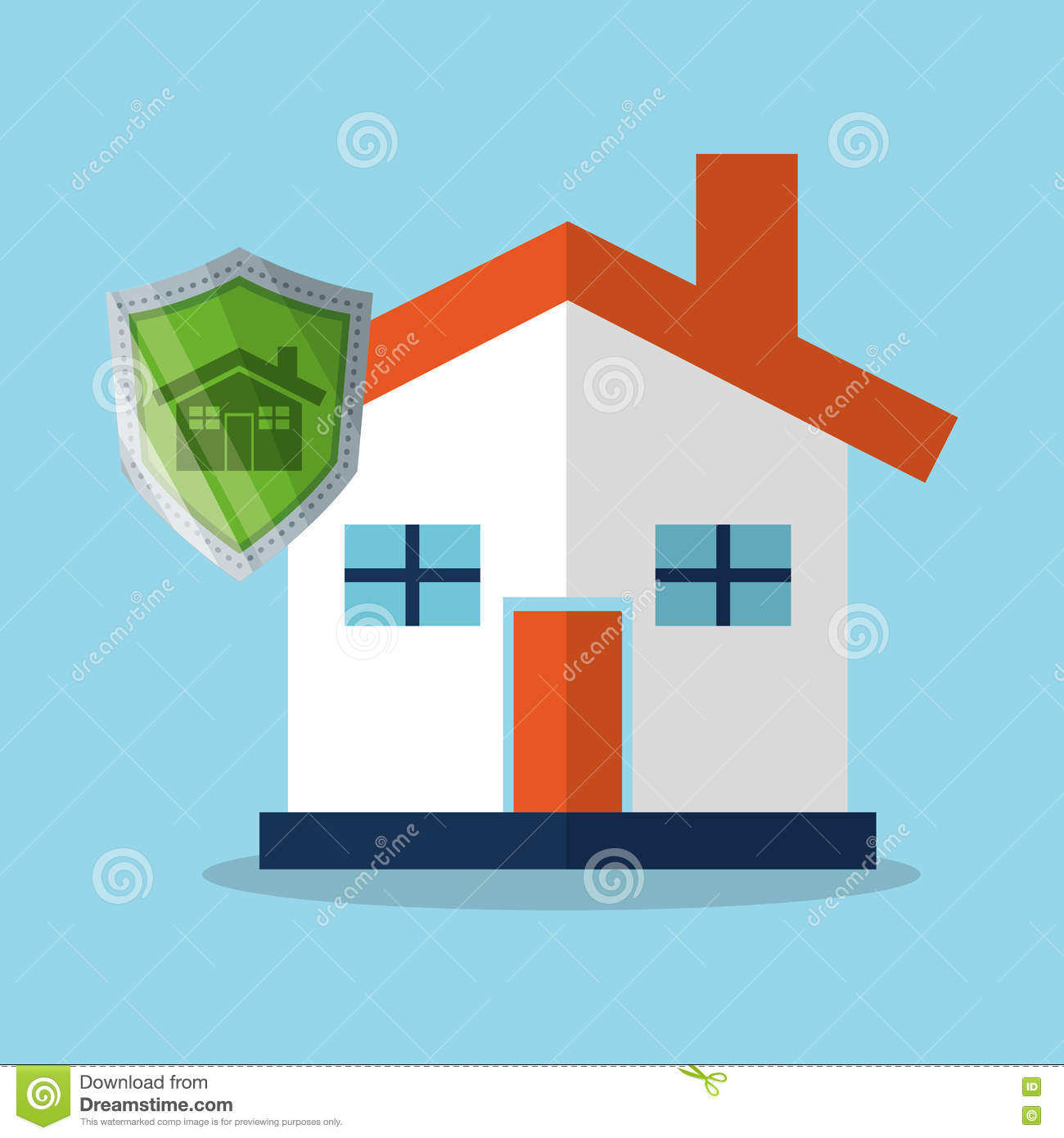 Download House And Security System Design Stock Illustration   Illustration  Of Safe, Failure: 79859605