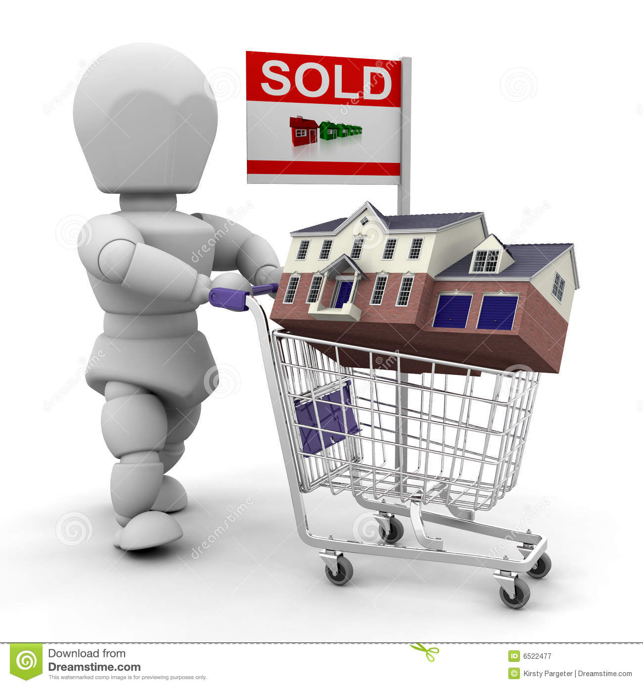 House Shopping Royalty Free Stock Photography