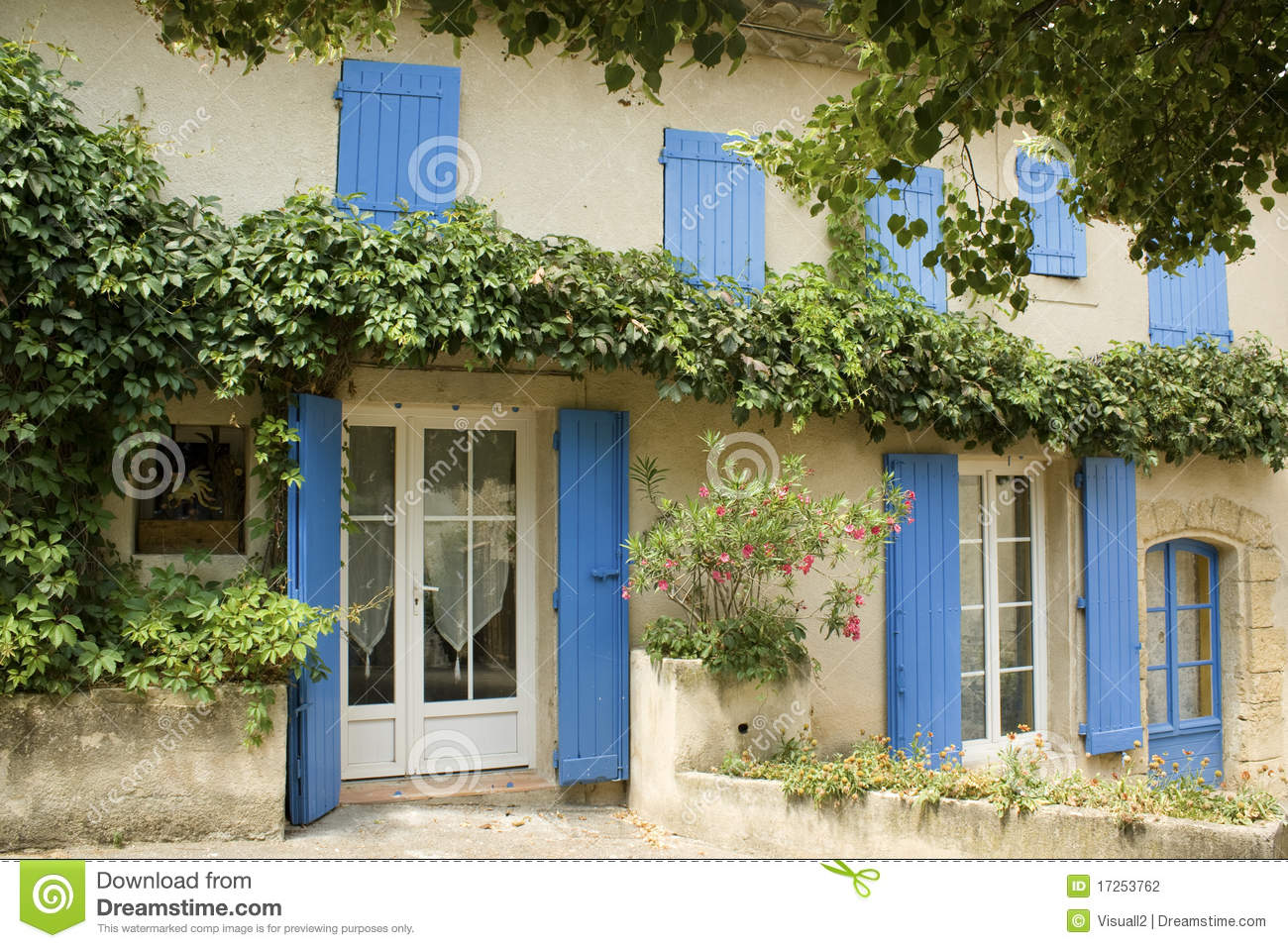 House With Shutters Provence France Stock Photo Image Of
