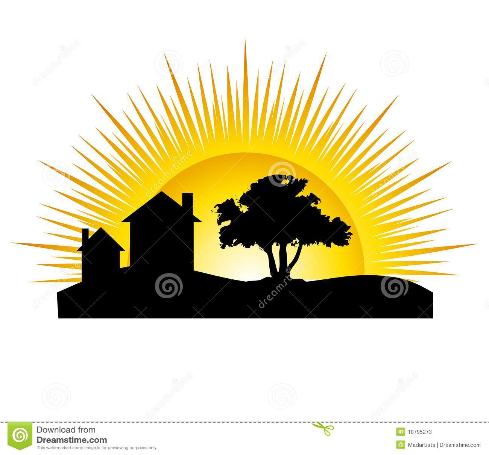 sunset logo clip art
