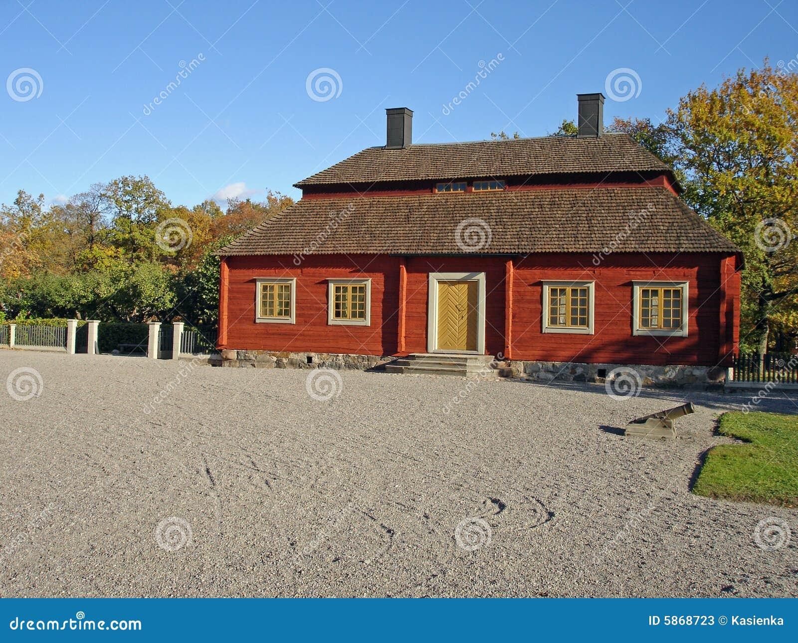 House Skansen Park Stockholm Stock Image Image 5868723