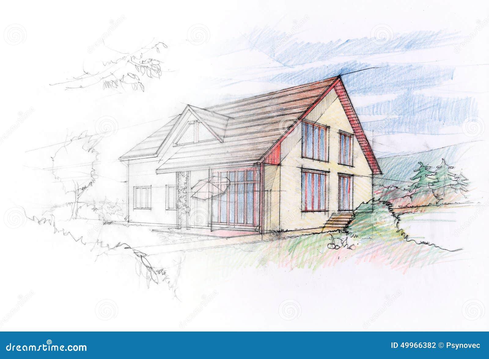 House Sketch Stock Illustration Image 49966382