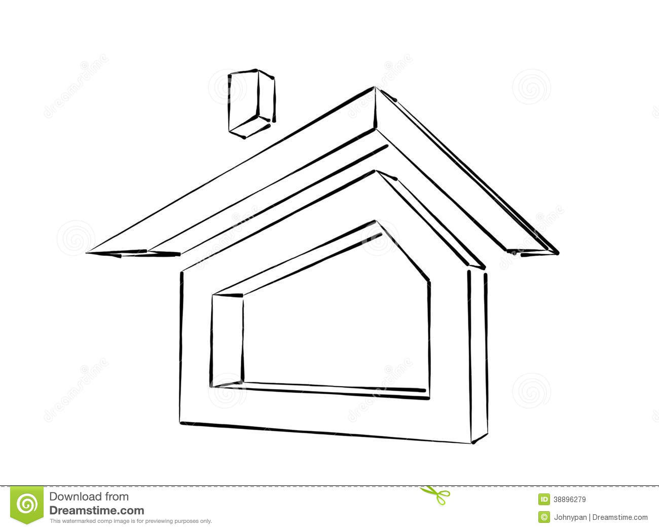 House sketch stock illustration image 38896279 for House sketches from photos