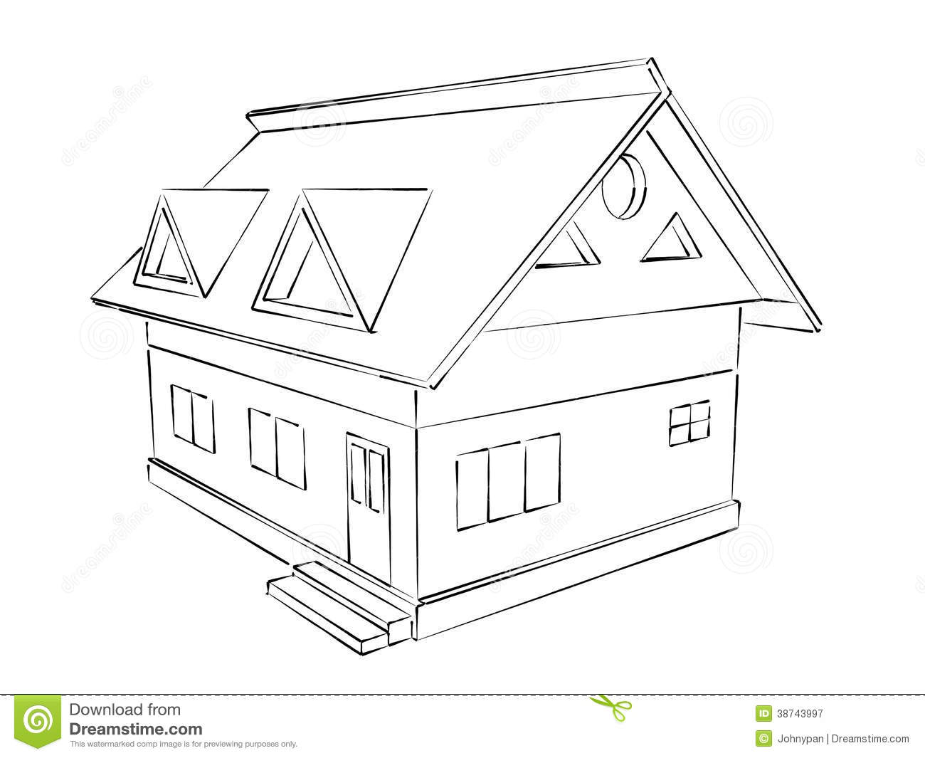 House Sketch Royalty Free Stock Photography Image 38743997