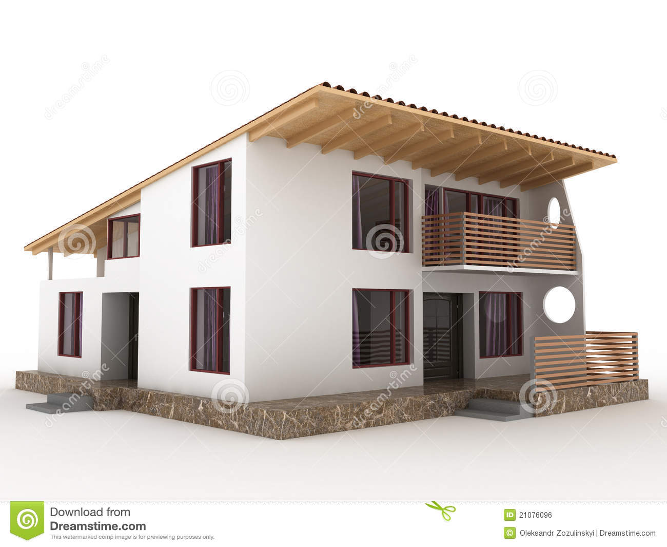The house with sloping roof №2