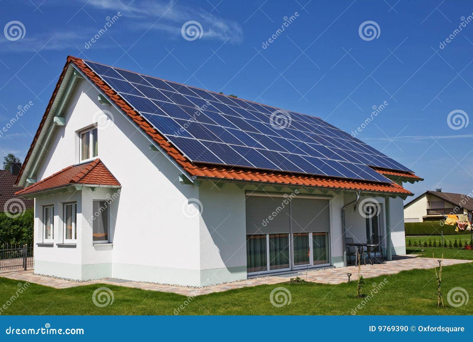 House solar panel stock photo image of modern for Solar homes