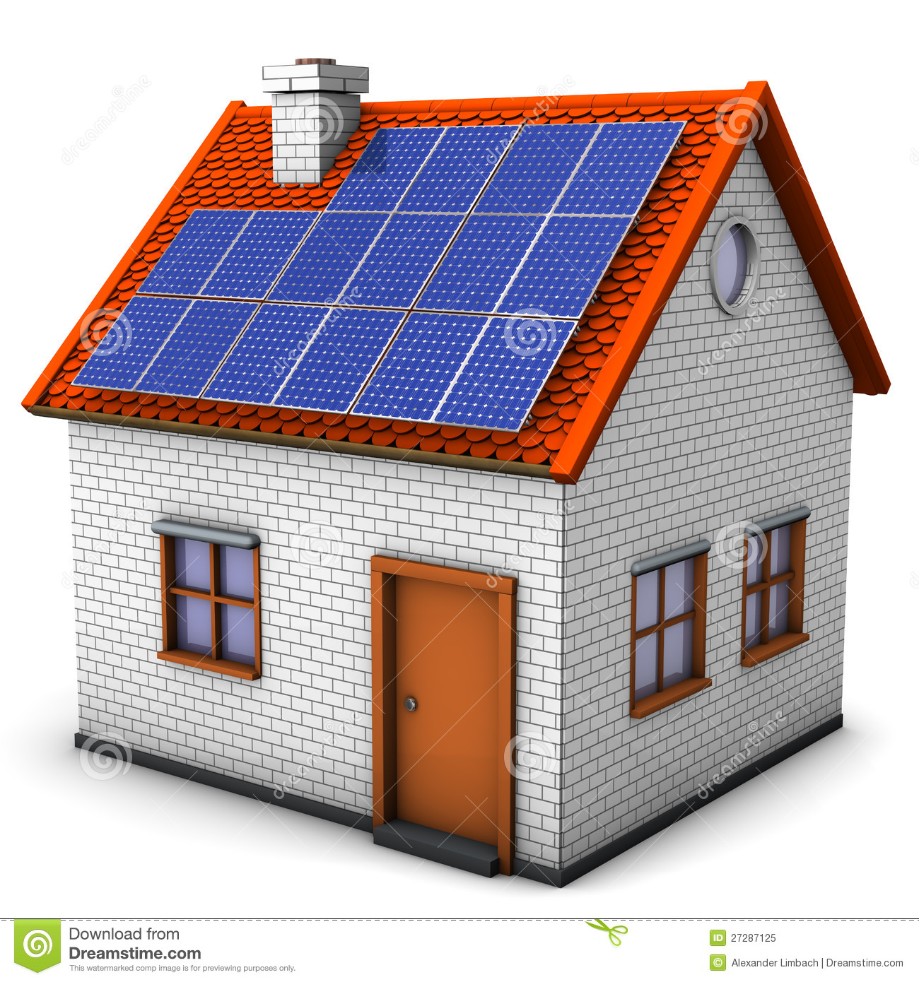 House Solar Panels Royalty Free Stock Photo - Image: 27287125
