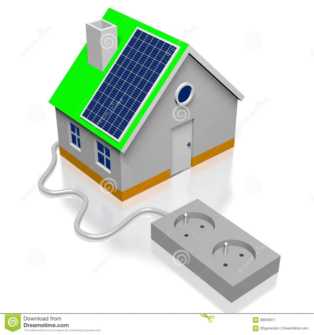 House Solar Panels Concept Stock Illustration Of Home Panel Wiring Diagram How To Power Your