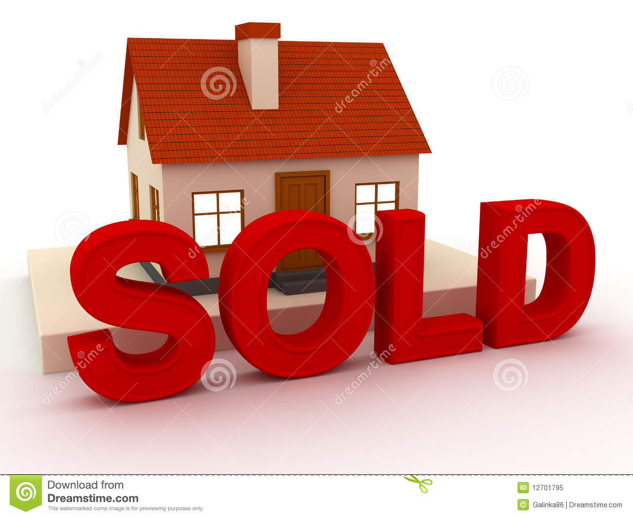 House Sold Royalty Free Stock Photo Image 12701795