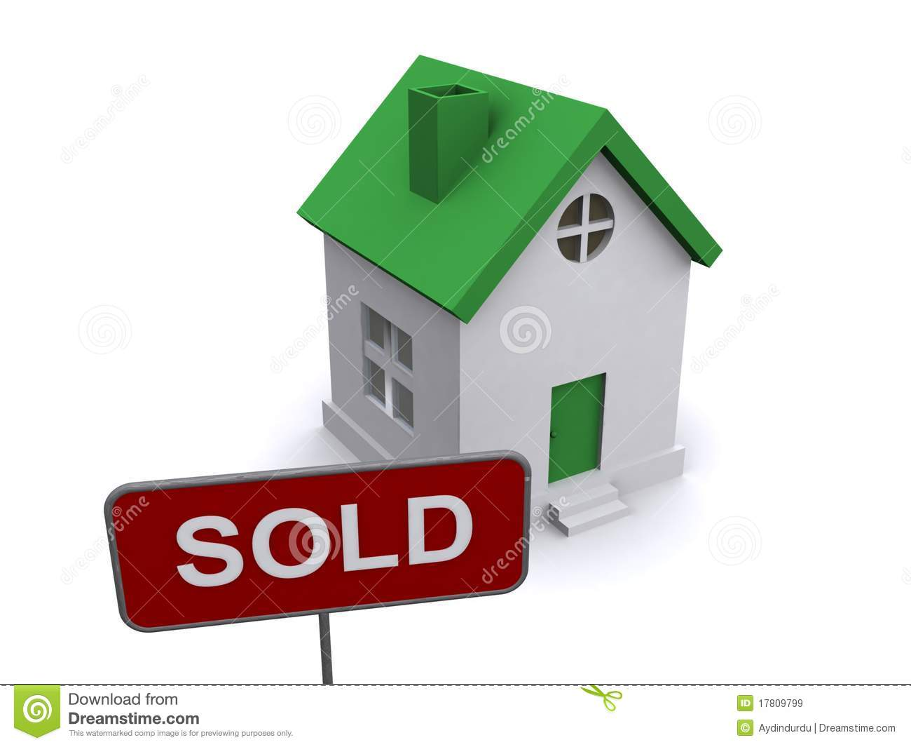 House And Sold Sign Royalty Free Stock Images Image