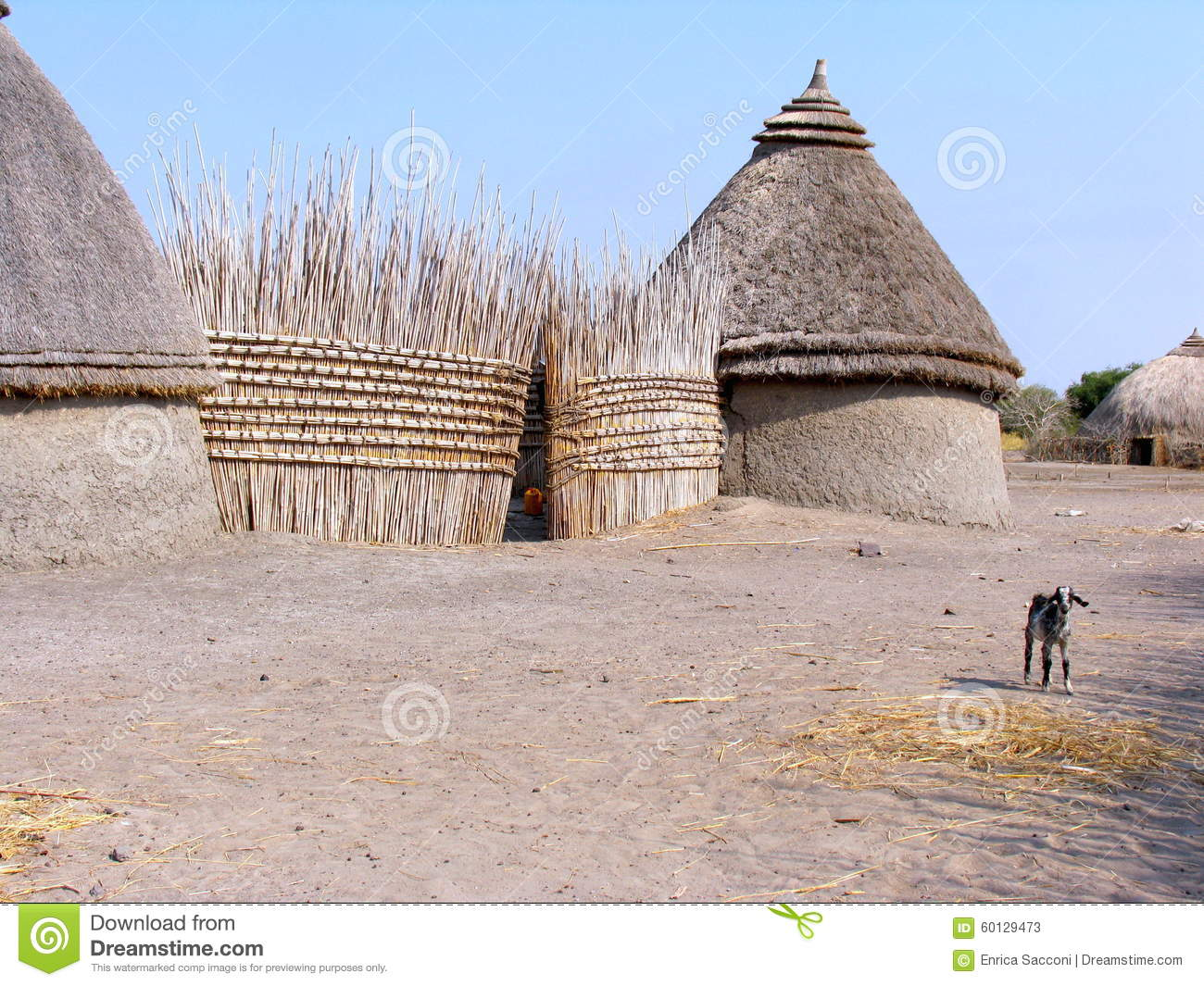 house in sudan stock photo