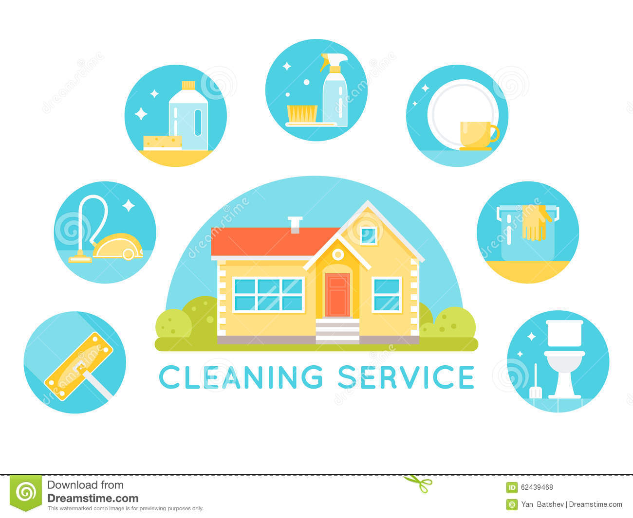 House Surrounded By Cleaning Services Images Household