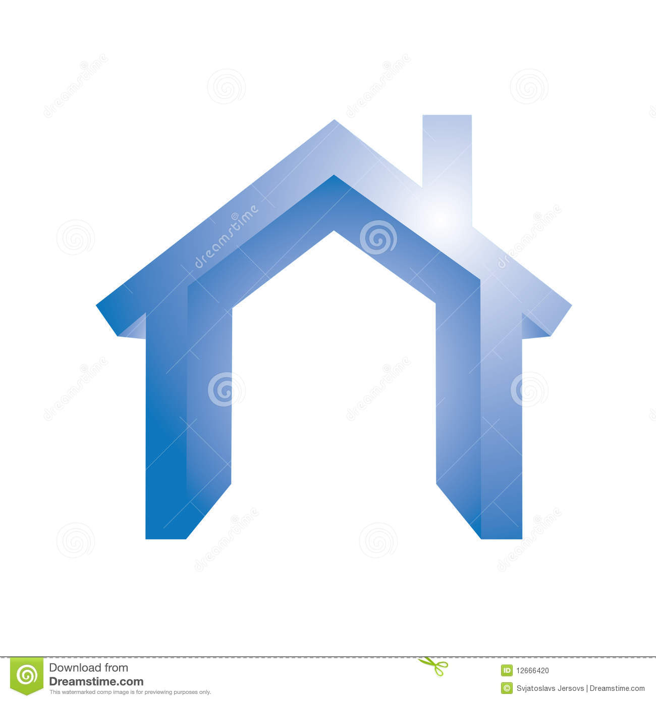 House Symbol Stock Photo Image 12666420
