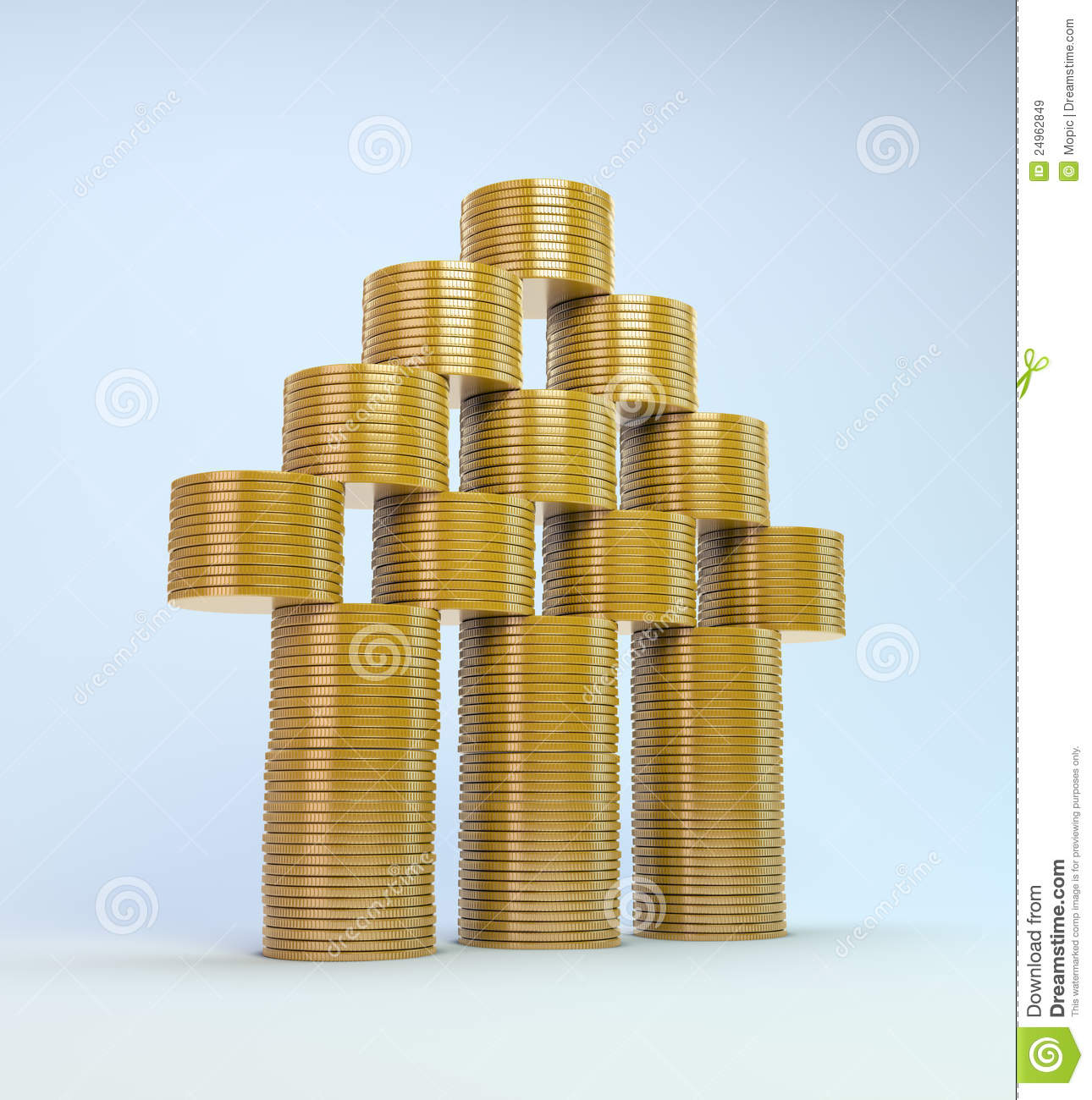 House Symbol Build Out Of Money Royalty Free Stock Images