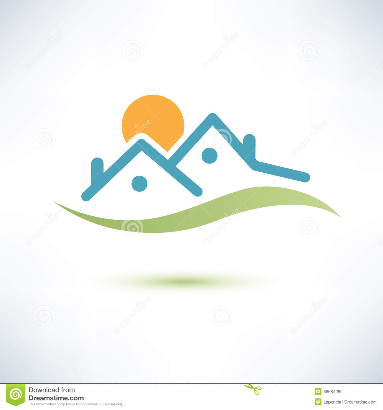 House Symbol Cottage Stock Vector