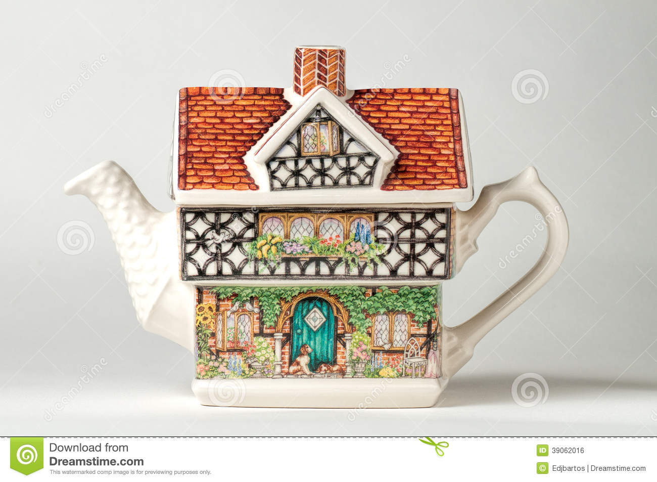 House teapot stock photo image 39062016 for Business cards shaped like a house