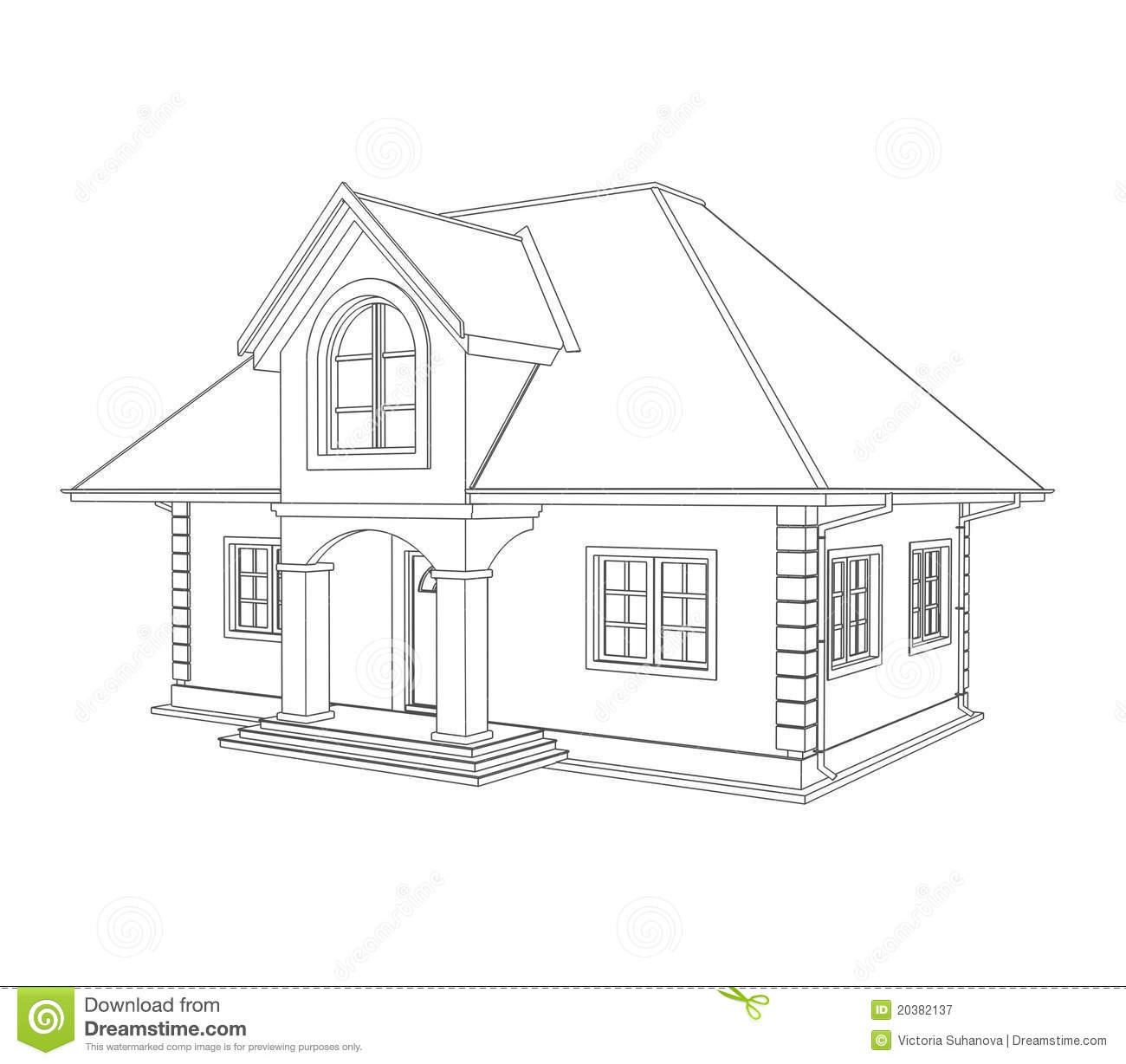 Simple house drawing for Draw your house