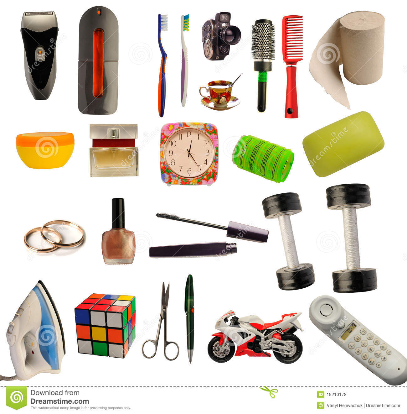 House things stock photo image of object ball brush 19210178 - Articulos de casa ...