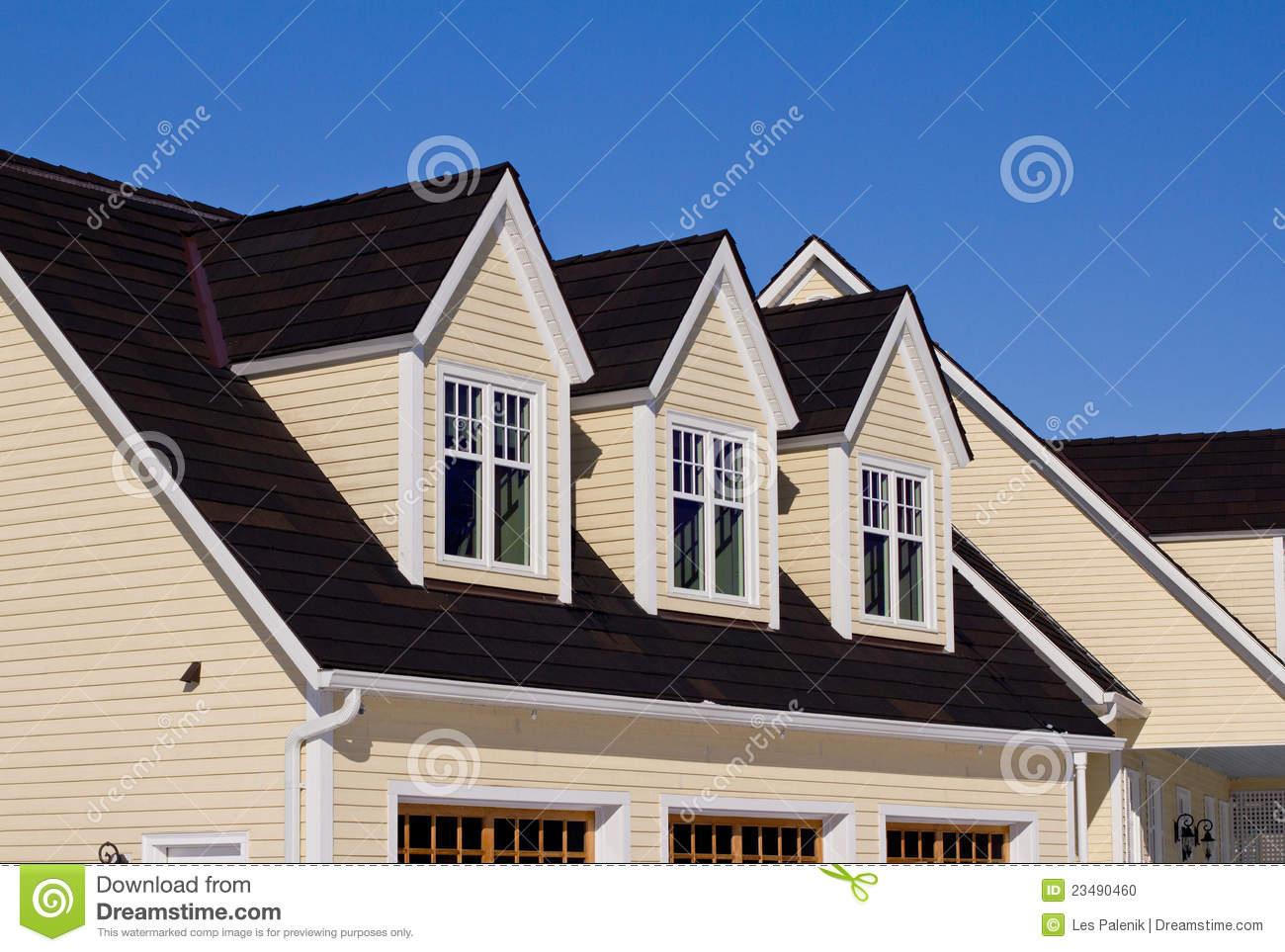 House With Three Dormer Windows Stock Photo Image 23490460